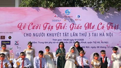 'Giấc mơ có thật' - Xúc động đám cưới tập thể của 46 cặp đôi khuyết tật