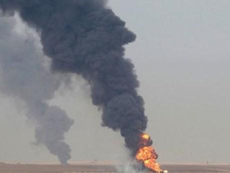 Iraq: Hai giếng dầu ở Khabbaz bị đánh bom gây cháy lớn
