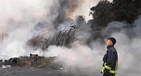 Không có chuyện cháy cây xăng gần cầu Thanh Trì như tin đồn