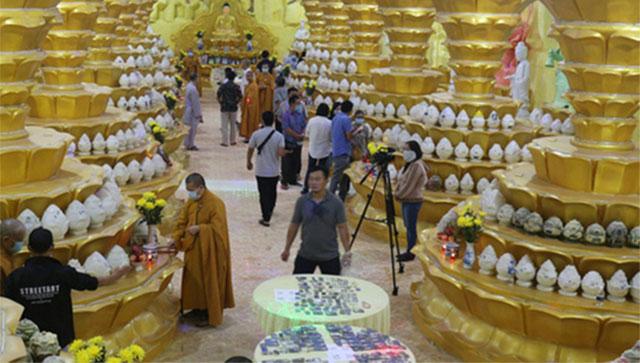 Hôm nay (9/9), chùa Kỳ Quang 2 sẽ mở niêm phong hầm cốt cho thân nhân tìm tro cốt