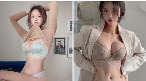 Khởi nghiệp thiếu tiền, cô gái xinh đẹp tự lấy bản thân ra làm mẫu, quảng cáo nội y ngay trên sóng livestream