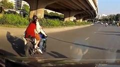 Chở bạn gái trên xe phân khối lớn, nam thanh niên gây tai nạn rồi bỏ chạy