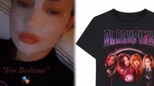 Chân dài Gigi Hadid đắp mặt nạ, diện áo in hình nhóm Black Pink khiến dân tình thích thú