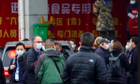 Nhóm điều tra của WHO tiếp cận chợ Hoa Nam nơi dịch bùng ra toàn cầu