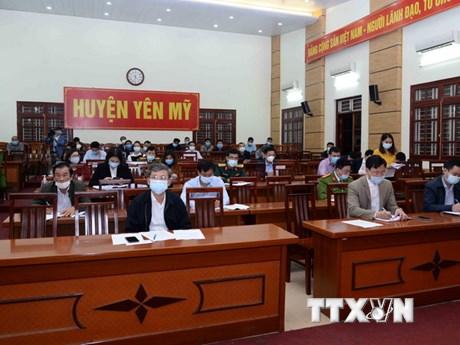 Dịch COVID-19: Hưng Yên phong tỏa xã Yên Phú từ ngày 9/2 để dập dịch