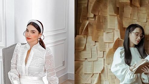 Lan Khuê, Nhã Phương sang trọng, thanh lịch với đầm trắng