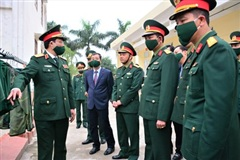Thượng tướng Trần Quang Phương thăm, kiểm tra Trung đoàn 8, Sư đoàn 395