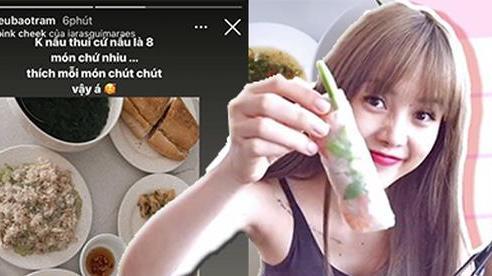 Hãy yêu cô gái như Thiều Bảo Trâm: Nhan sắc miễn chê, còn đảm đang trổ tài nấu bàn ăn 1 lần 8 món chứ nhiêu!