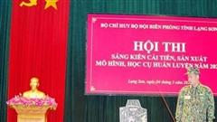 BĐBP Lạng Sơn: Thi sáng kiến cải tiến, sản xuất mô hình, học cụ huấn luyện năm 2021