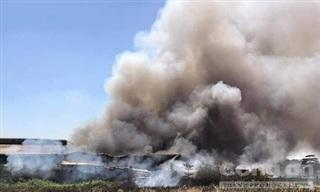 Cháy công ty may mặc rộng hàng ngàn mét vuông ở Bình Dương