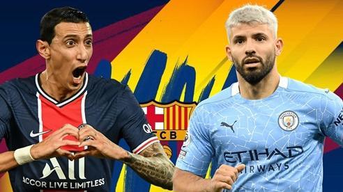 Barca ký miễn phí Aguero và Di Maria