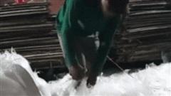 Xuất hiện video quay lại cảnh tượng hãi hùng, dùng chân đóng hàng trong lò làm bánh tráng trộn khiến nhiều người bức xúc