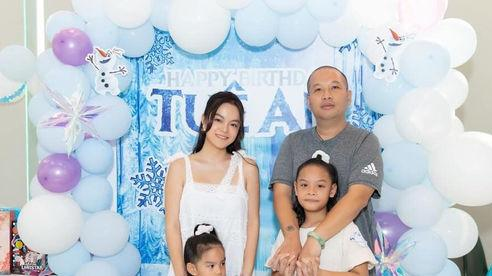 Phạm Quỳnh Anh cùng đạo diễn Quang Huy tổ chức sinh nhật cho con gái