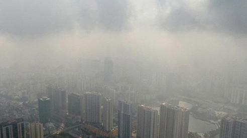 Chất lượng không khí ngày cuối tuần của Hà Nội ở mức kém do sương mù
