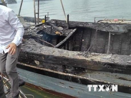 Quảng Ninh: Nổ bình ga trên tàu khai thác thủy sản, 3 người nguy kịch