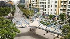 Cận cảnh cây cầu bộ hành độc đáo nhất Hà Nội