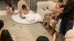 5 cô gái cùng 4 nam thanh niên thuê biệt thự ở resort mở 'tiệc' ma túy