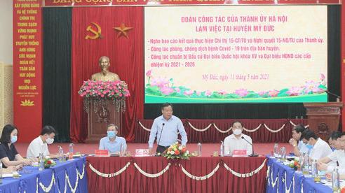 Phó Bí thư Thành ủy Nguyễn Văn Phong: Huyện Mỹ Đức tập trung toàn diện để tổ chức thành công cuộc bầu cử