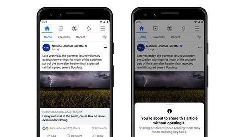 Facebook cập nhật thêm tính năng để hạn chế chia sẻ tin tức giả mạo