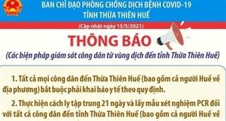 Người từ vùng dịch Đà Nẵng đến Huế phải cách ly 21 ngày theo quy định