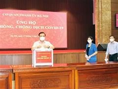 Thành ủy Hà Nội ủng hộ gần 150 triệu đồng cho Quỹ phòng chống COVID-19