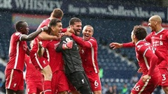 Liverpool thắng nghẹt thở West Brom 2-1