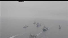 Xem Mỹ, Pháp, Australia tập trận rầm rộ ngoài khơi Nhật Bản