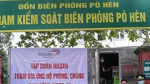Masan tặng sản phấm thiết yếu cho các đơn vị tuyến đầu chống dịch