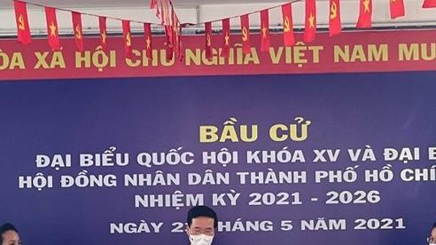 Thường trực Ban Bí thư Võ Văn Thưởng bỏ phiếu tại TP.HCM