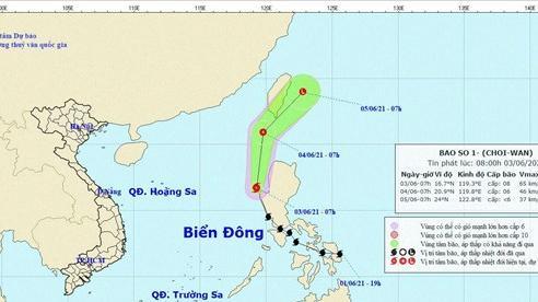 Bão Choi Wan trở thành cơn bão số 1 trên Biển Đông năm 2021
