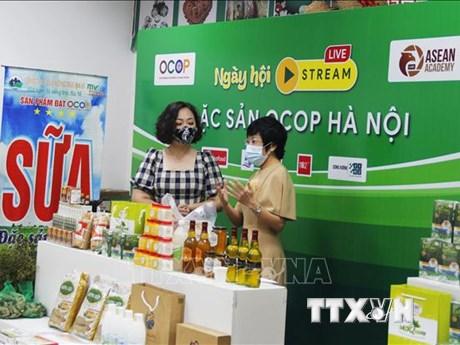 Khai mạc Ngày hội livestream giới thiệu các đặc sản OCOP Hà Nội