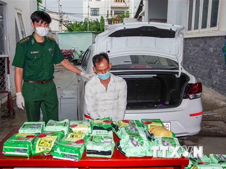 Bộ đội Biên phòng TP.HCM triệt phá vụ vận chuyển 20kg ma túy