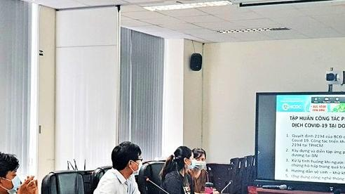 Doanh nghiệp TP.HCM tham gia tập huấn, ứng đối với ca nhiễm tại cơ sở