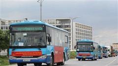 20 xe buýt được điều động đến Bắc Giang đón công dân trở về Hà Nội