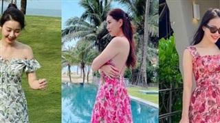Ngắm loạt váy hoa mùa Hè xinh ngây ngất của các nữ MC, BTV