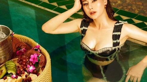 Tự nhận là 'giò bò', Phương Oanh vẫn tự tin khoe ảnh bikini