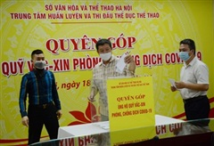 Thể thao Hà Nội góp hơn 183 triệu đồng ủng hộ Quỹ vaccine phòng Covid-19