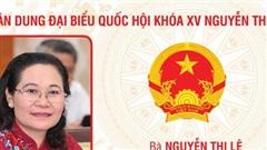 Chân dung đại biểu Quốc hội khóa XV Nguyễn Thị Lệ