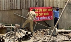 TPHCM: Nhà xưởng của dân nguy cơ đổ sập khi chung cư Lacasa thi công
