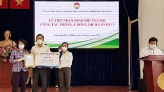 HTBC ủng hộ TP Hồ Chí Minh gần 2 tỷ đồng phòng chống dịch Covid-19