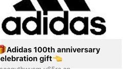 Truy cập link giả mạo Adidas tặng quà, mất tài khoản Facebook