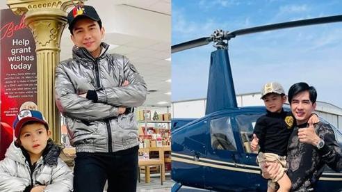 Đan Trường chơi lớn đưa quý tử đi trải nghiệm máy bay trực thăng