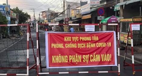 Phong tỏa khu dân cư hơn 300 hộ dân ở huyện Nhơn Trạch