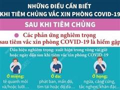 [Infographics] Lưu ý quan trọng sau khi tiêm vaccine phòng COVID-19