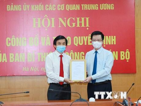 Ông Nguyễn Quang Trường làm Phó Bí thư Đảng ủy Khối các cơ quan TW