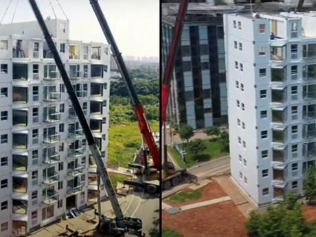 Công ty Trung Quốc xây chung cư 10 tầng trong vòng chưa đầy 29 giờ