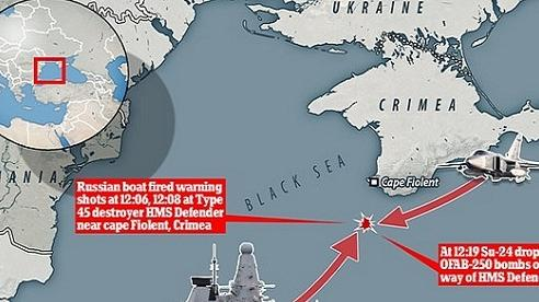 Vì sao khu trục hạm Anh bị Su-24M Nga ném bom?