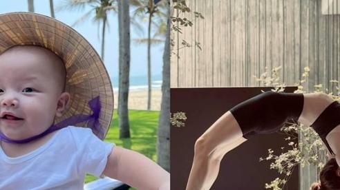 Bé Leon làm 'cameo' cực cưng trong buổi tập yoga của mẹ Hà Hồ, nhưng chưa được một lúc thì bị điều này cám dỗ
