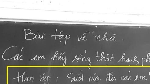 Nghẹn ngào đọc bài tập về nhà có 'hạn nộp suốt cuộc đời' của cô giáo Toán