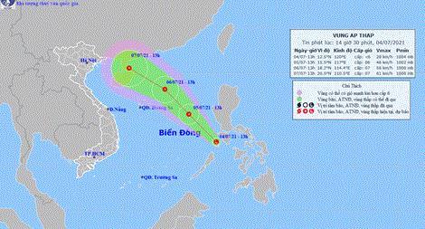 Nhiều khả năng xuất hiện áp thấp nhiệt đới trên Biển Đông
